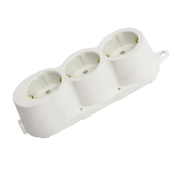 RUBBER MULTISOCKET TRIPLE 16A WHITE