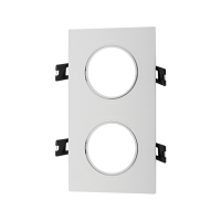 PLASTIC DOWNLIGHT SQUARE DOUBLE 92X172mm WHITE