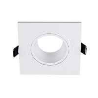 PLASTIC DOWNLIGHT SQUARE 93X93mm WHITE