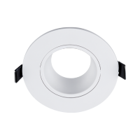 PLASTIC DOWNLIGHT ROUND D90mm WHITE