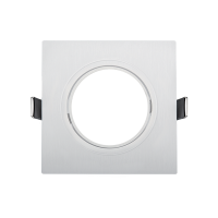 PLASTIC DOWNLIGHT SQUARE METAL RING 90X90mm WHITE