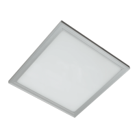 LED PANEL SQUARE  48W WHITE 595MM/595MM, IP44