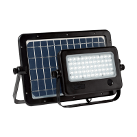 SOLAR LED FLOODLIGHT SENSOR 50W IP65 WITH PORTABLE SOLAR PANEL