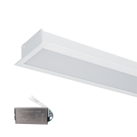 LED PROFILES RECESSED MOUNTING S48 32W 4000K 1500MM WHITE+EMERGEMCY KIT