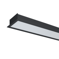 HIGH POWER LED PROFILE RECESSED S48 50W 4000K BLACK