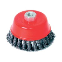 TWIST KNOT WIRE CUP BRUSH ANGLE  GRIN D100mm
